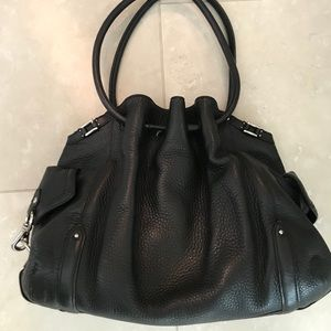 Cole Haan Leather Drawstring Bucket Bag